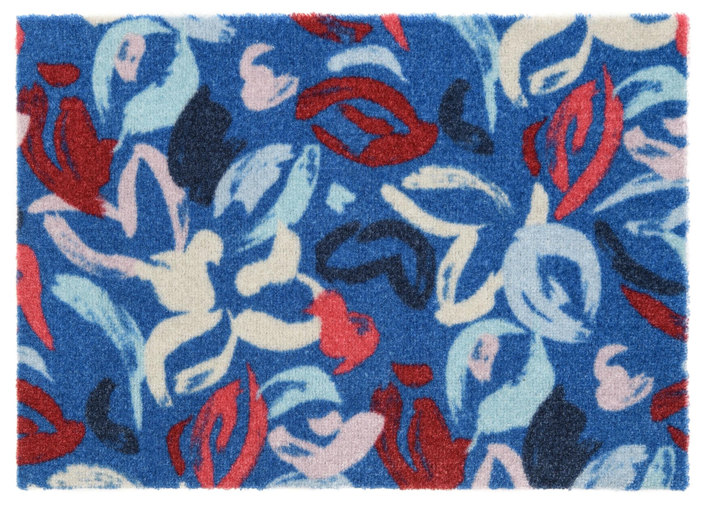ELLE Decor koberce Protiskluzová rohožka Viva 104032 Blue z kolekce Elle - 50x70 cm