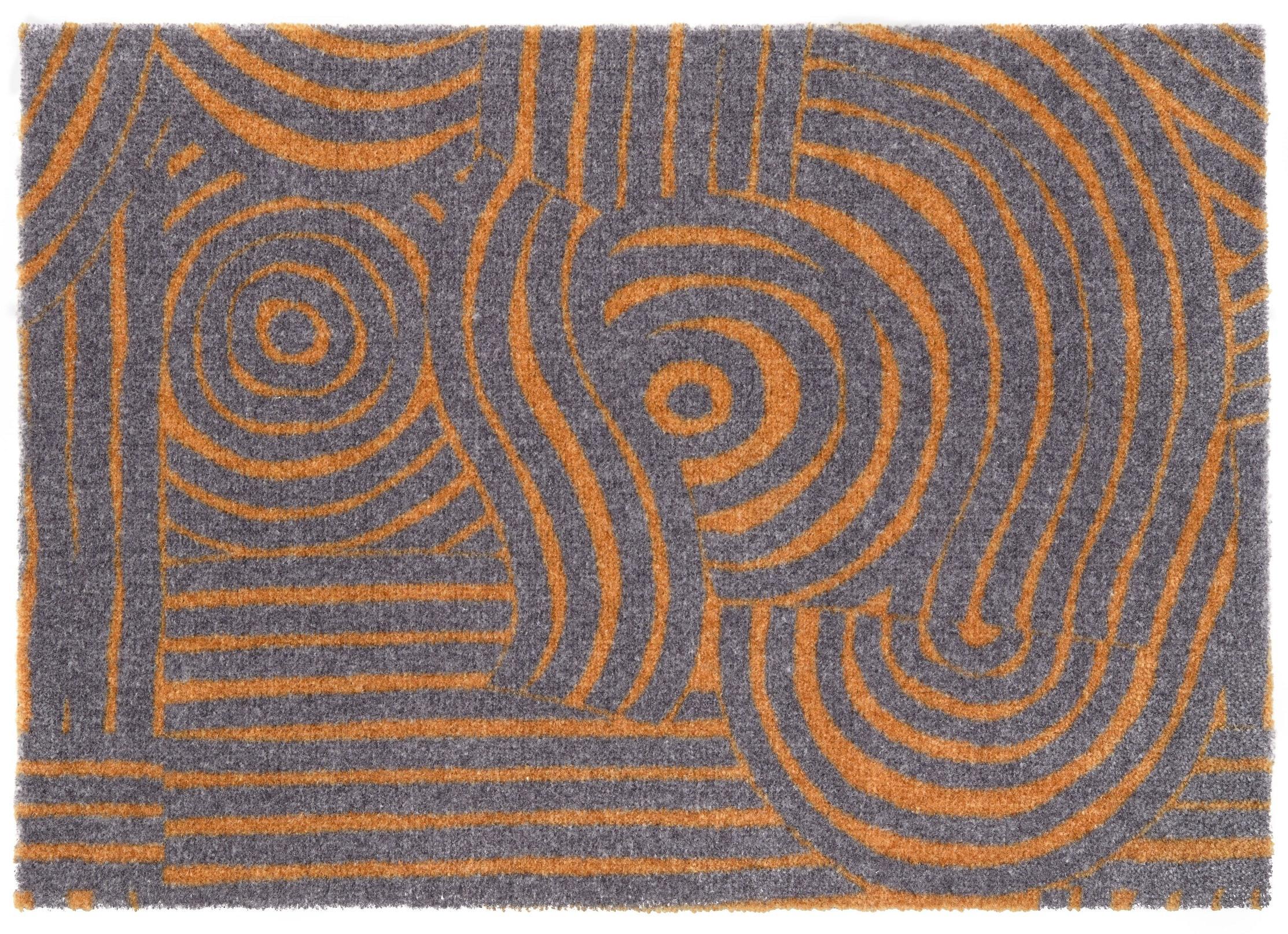ELLE Decor koberce Protiskluzová rohožka Viva 104029 Grey/Gold z kolekce Elle - 50x70 cm