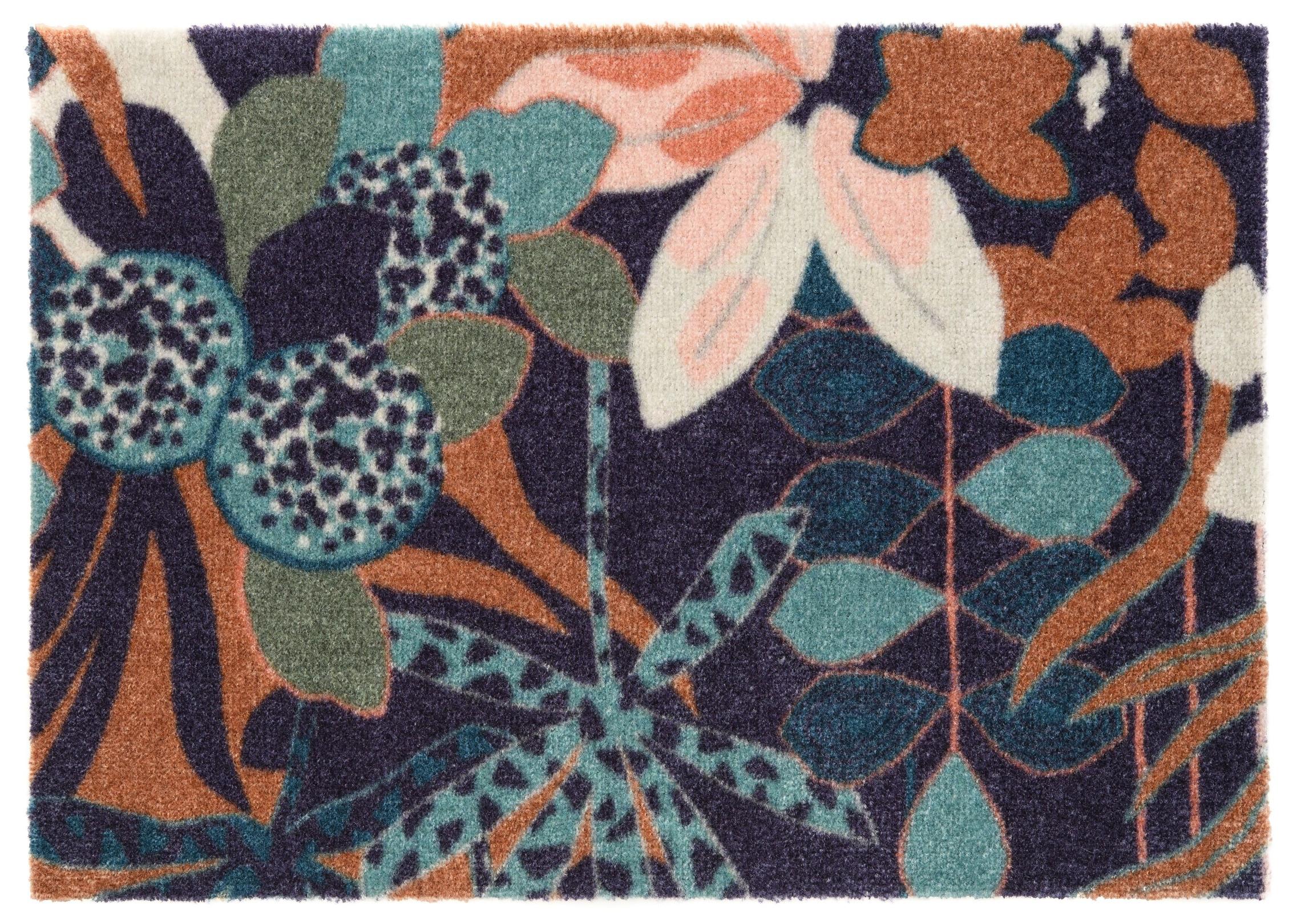 ELLE Decor koberce Protiskluzová rohožka Viva 104028 Blue/Green z kolekce Elle - 50x70 cm