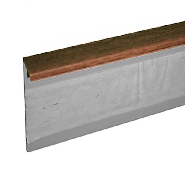 Lišta TL55 22 ořech 125 cm - Lišta 55x10x1250 mm