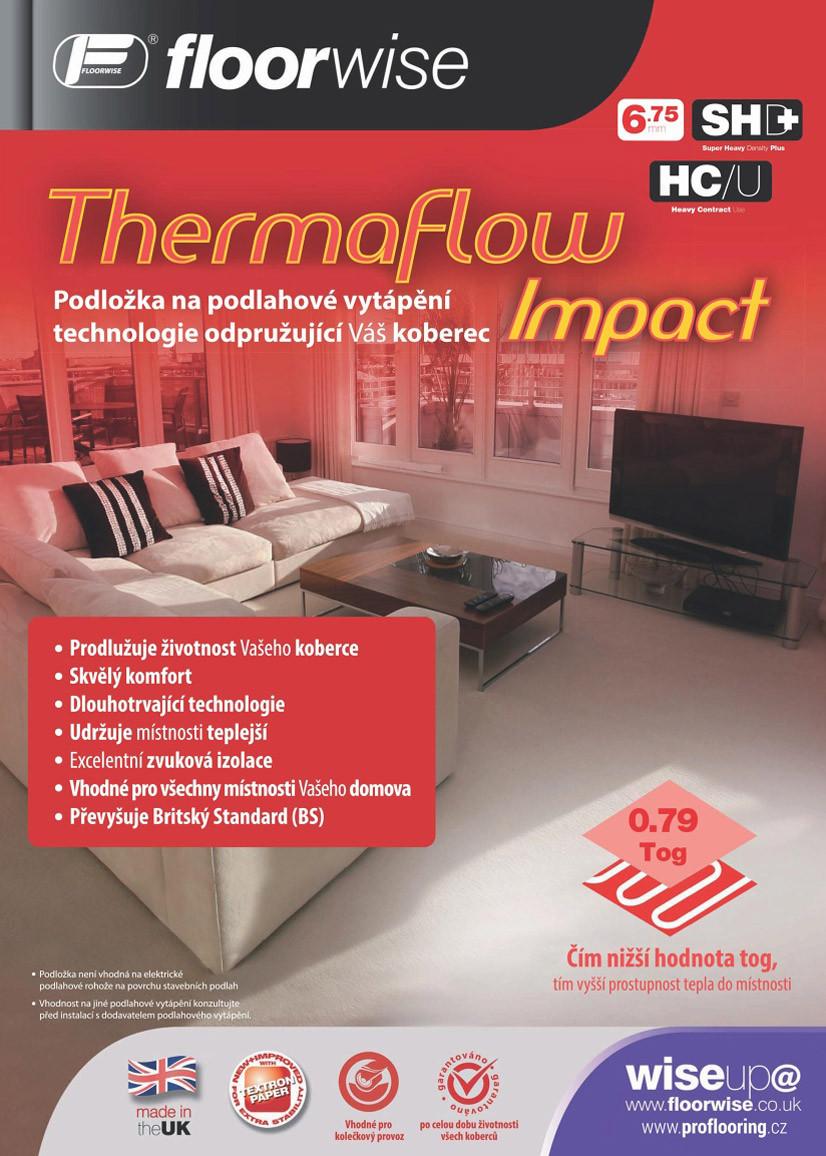 Podložka pod koberec Floorwise Thermaflow Impact - 133x824 cm