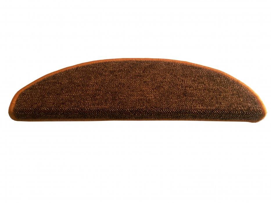 Vopi koberce Nášlapy na schody Modena zlatohnědá půlkruh - 24x65 půlkruh (rozměr včetně ohybu)