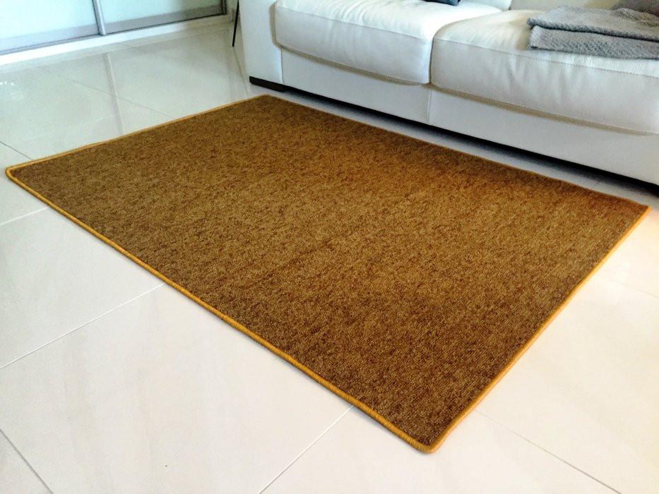 Vopi koberce Kusový koberec Modena zlatohnědá čtverec - 60x60 cm