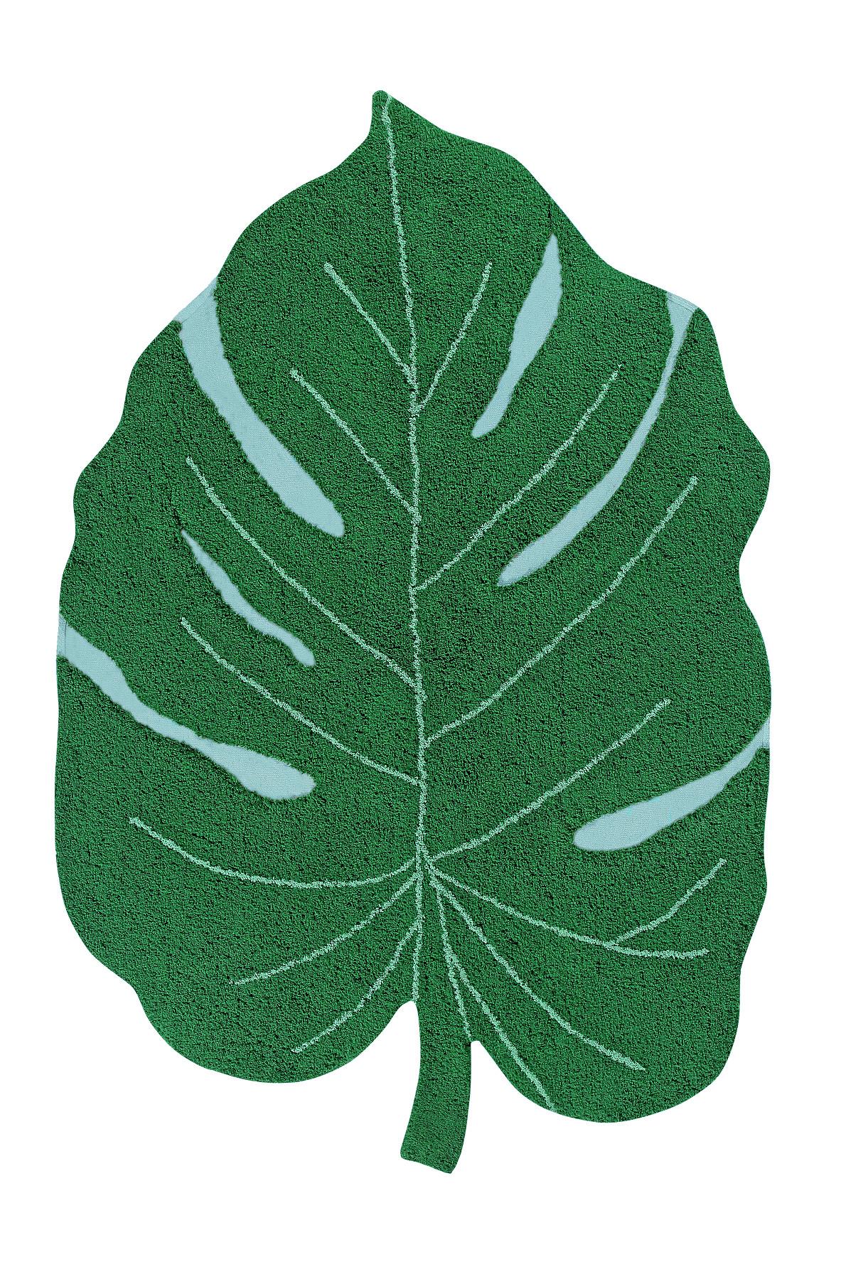 Lorena Canals koberce Pro zvířata: Pratelný koberec Monstera Leaf - 120x180 cm
