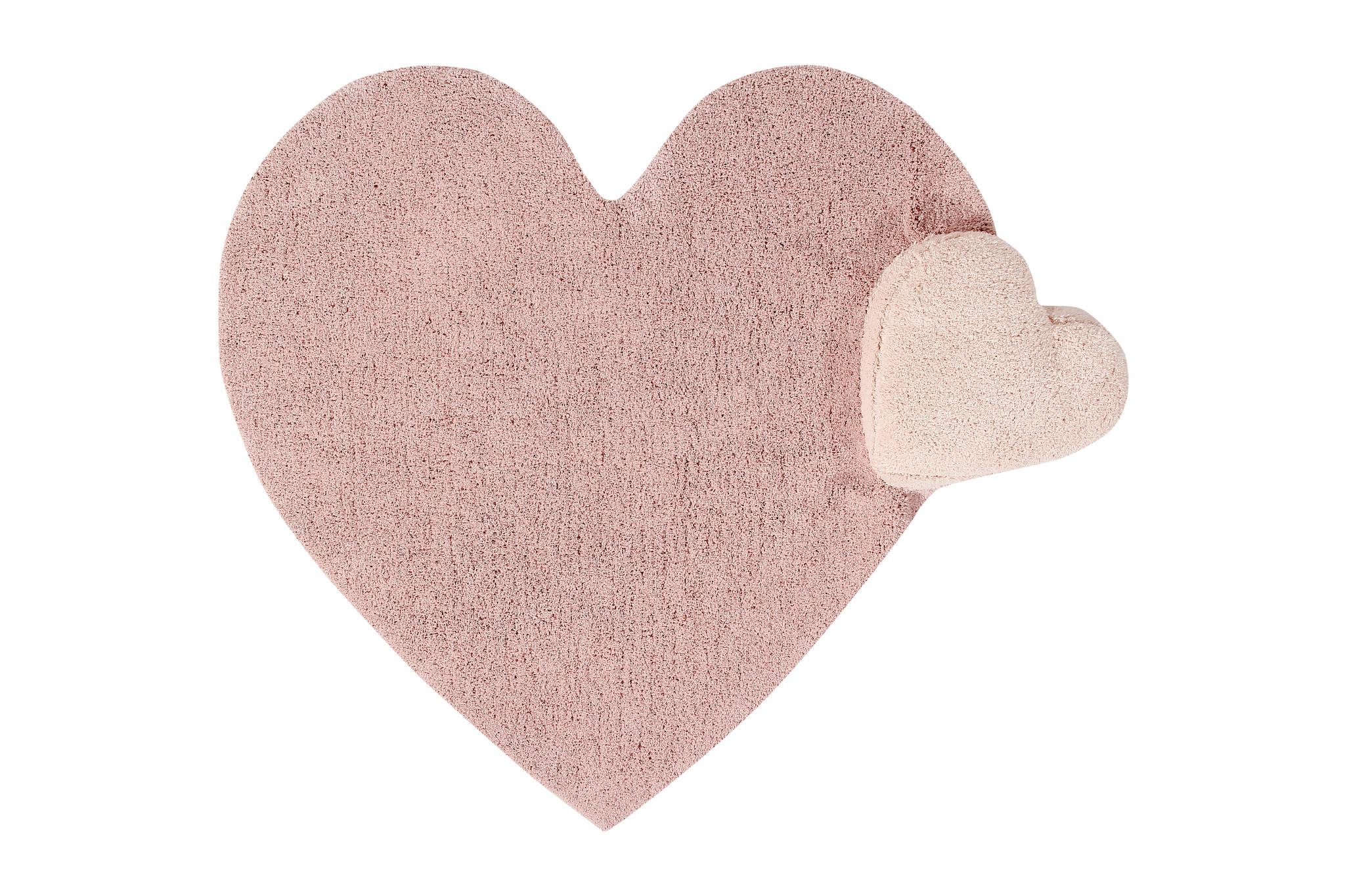Lorena Canals koberce Pro zvířata: Pratelný koberec Puffy Love - 160x180 srdce cm