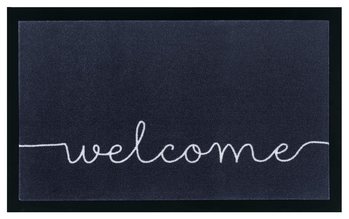 Hanse Home Collection koberce Protiskluzová rohožka Printy 104512 Anthracite/Cream - 45x75 cm