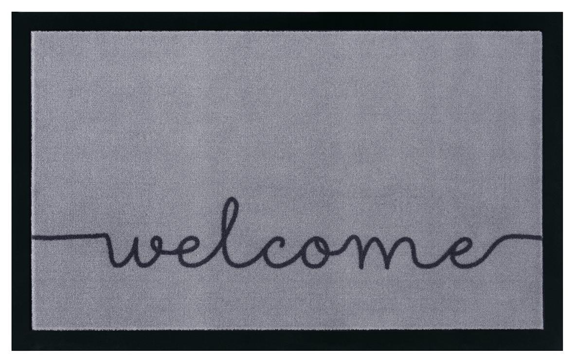 Hanse Home Collection koberce Protiskluzová rohožka Printy 104511 Grey/Black - 45x75 cm