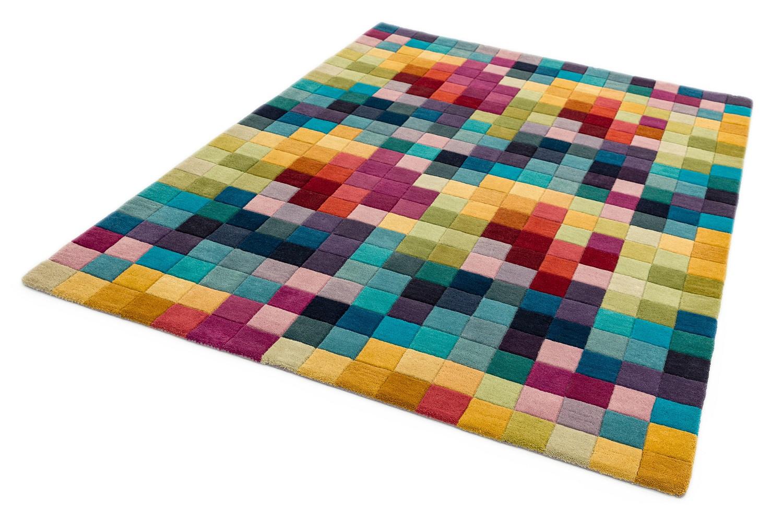Asiatic London koberce Ručně všívaný kusový koberec Funk Multi boxy - 70x200 cm