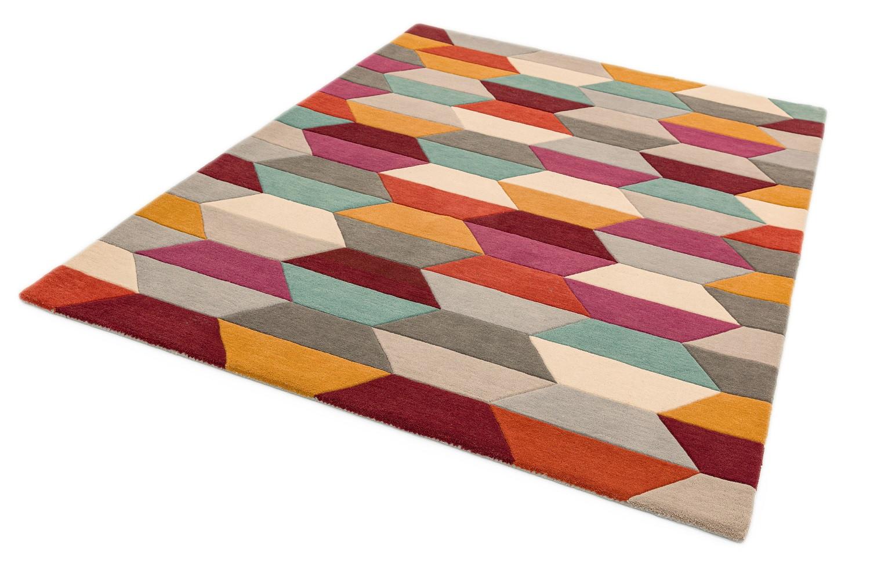 Asiatic London koberce Ručně všívaný kusový koberec Funk honeycomb/bright - 70x200 cm