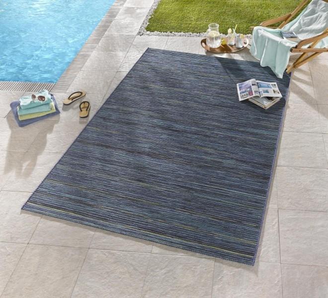 Bougari - Hanse Home koberce Venkovní kusový koberec Lotus Blau Meliert - 80x240 cm