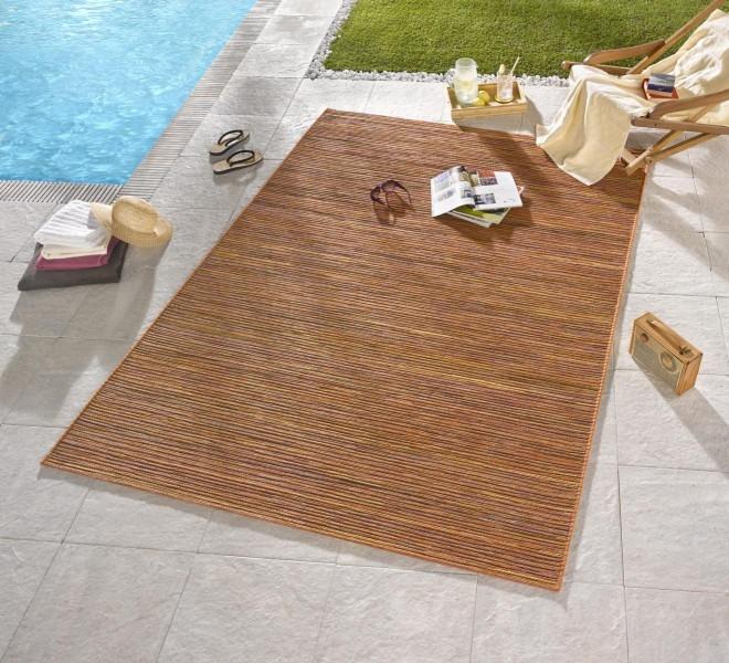 Bougari - Hanse Home koberce Venkovní kusový koberec Lotus Terra Orange Meliert - 120x170 cm
