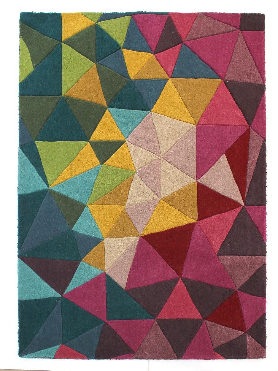 Levně Flair Rugs koberce Ručně všívaný kusový koberec Illusion Falmouth Multi - 160x230 cm Vícebarevná