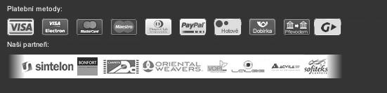 Akceptujeme následující typy platby a platebních karet